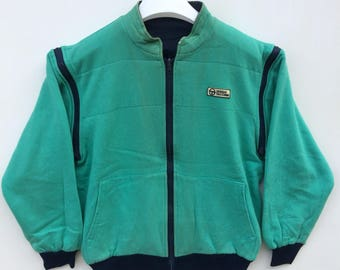 Vtg rare 80s Sergio Tacchini reversible jacket/casual/tennis/streetwear L size