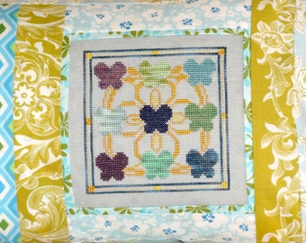 Blue Butterflies Cross Stitch PDF Pattern Needlework