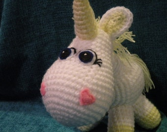 PDF - INSTANT DOWNLOAD - Unicorn 8,8 inches / 22 cm amigurumi doll crohet pattern