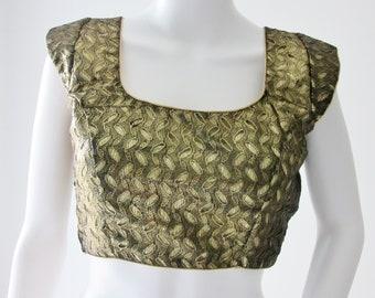 Black and Gold Sari Blouse