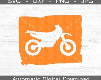 Dirt Bike SVG Cut File, dxf, png, jpg - DIGITAL FILES Only - Motocross Dirtbike Svg