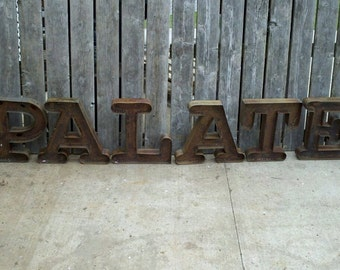 19 Inch PATINA Steel Letters or Numbers
