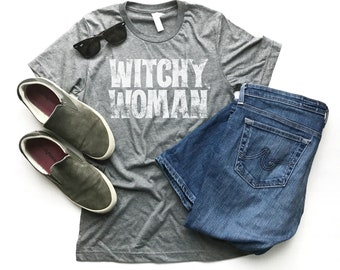 Witchy Woman, Unisex Fit Tee, Graphic Tee, Adventure Top, Women Rule, Magical, Vintage Feel, Distressed Tee, Magic, Female Top, Women Rights