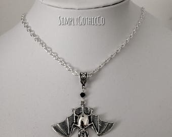 Gothic Simple Bat Necklace