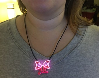 glow necklace light up necklace burning man butterfly