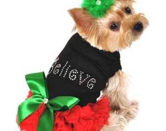 Christmas Dog Dress for Small and Large Breeds