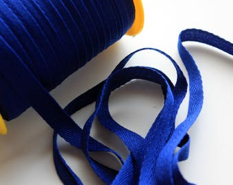 """3/8"""" Polyester Twill Tape - Royal Blue - 5 yards"""