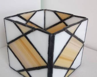 Geometric candle holders-Tiffany, stained glass, candle holder