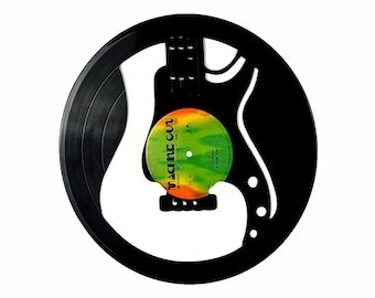 Guitar Vinyl Record Art On Jimi Hendrix Album
