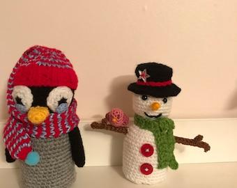 Hand Made Christmas Crochet Figurine