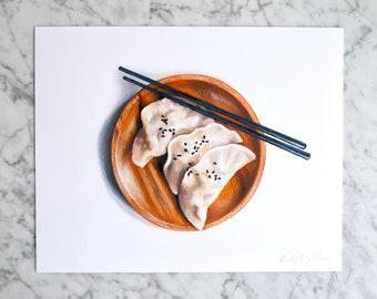 Dumplings Illustration // 8x10 Food Art Print