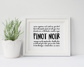 Unbreakable Kimmy Schmidt Poster- Pinot Noir lyrics, Titus Andromedon, Kitchen, Wine, Funny Poster, Gallery Wall, Office Art, Gift for Her