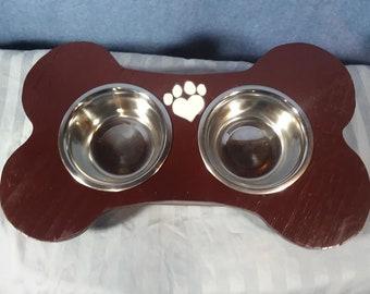 Bone shaped dog dish