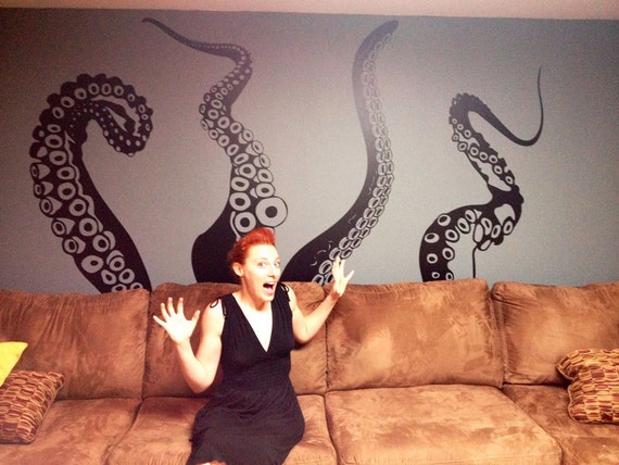 Jumbo Tentacles Vinyl Wall Decal-Choose Any Color