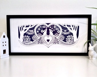 Hare screen print 'From Stardust To Stardust' – Midnight colourway limited run of 25