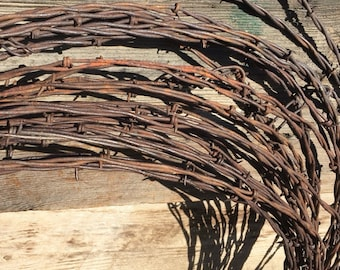 10' Barbed Wire For Crafts - Barb Wire Fencing - DIY - Barb Wire Art - Barbed Wire Wreath - Make Your Own - Barbed Wire Art - Barbwire