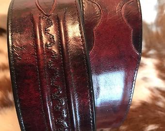 Vintage sz 34 Lucchese leather western belt