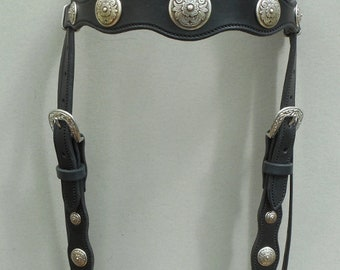 Scalloped Headstall with Diablo Conchos