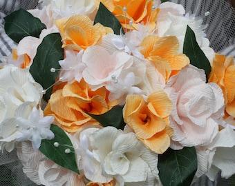 Handmade Italian crepe paper rose bouquet