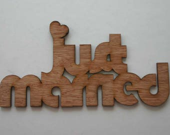 just married Sign Wood Sign Wedding Gift Housewarming Inspirational Wall Art
