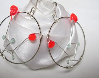 pretty little pink earrings and rings