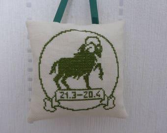 Zodiac - Aries sign pillow