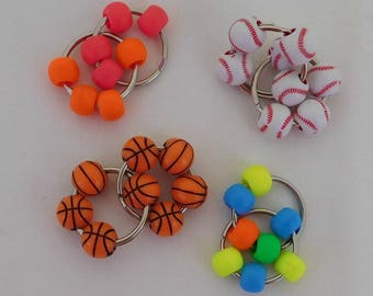 Plastic Bead/Split Ring Fidget Toy, Autism, Stim Toy, ADHD, SPD, Sensory, Quiet Fidget, Pocket Fidget,