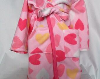 Girls robe, custom girls robe, Toddler robe, toddler hooded robe, kids hooded robe, kids robe, custom fabric choice, toddler gift