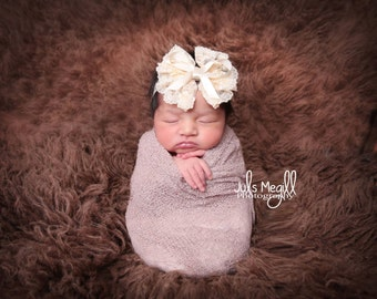Mauve Mist RTS Stretchy Soft Newborn Knit Wraps 80 colors to choose from, photography prop newborn prop wrap