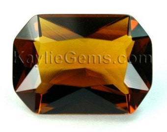 Glass Jewel 18x25mm Octagon Pointed Back, Unfoiled, Faceted Diamond Cut - Colorado Topaz BC508 - 1pc