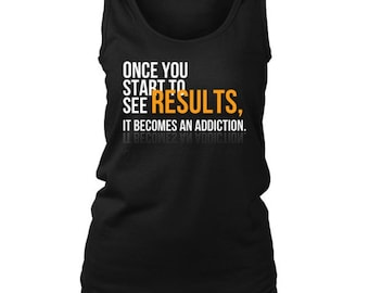 Once You Start To See Results Inspirational Motivational Women's Tank