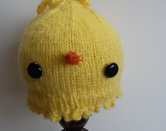 6-12 Months Yellow Easter Chick Baby Bird Hat