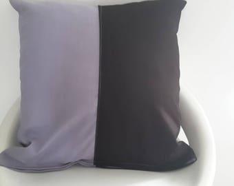 Cushion cover 40 x 40 cm purple and plum