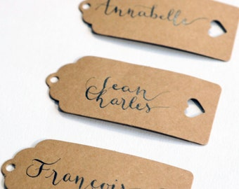 Mark up calligraphed by hand. Wedding, bar mitzvah, birthday, event. Frivolous style