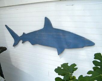 Wooden Shark Art Outdoor Decor Pool Sign Shark Wooden Wall Art Boys Room Decor Large Nautical Decor Mako Shark Wall Decor Kid Room Decor