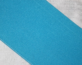 "1 yard Turquoise 3"" wide boxer knit waistband elastic"