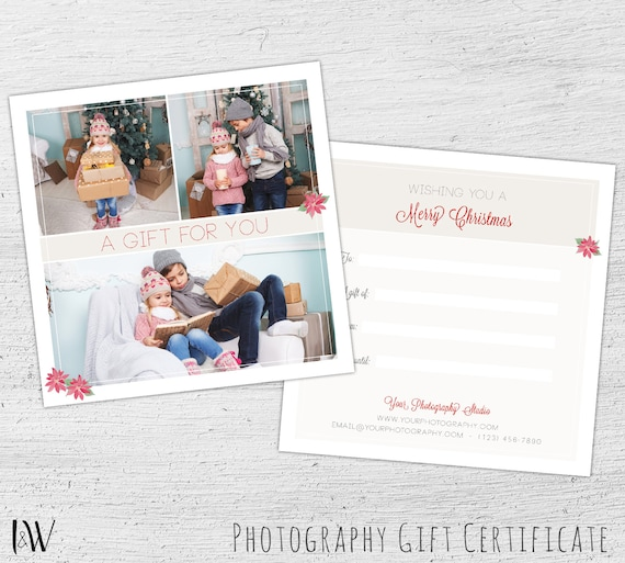 Gift card template photography gift certificate photoshop yelopaper Gallery