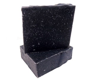 Activated Charcoal Soap - Handmade Soap, Vegan Soap, Detox Soap, Facial Soap, Body Soap, All Natural Soap, Cold Process Soap, Best Seller