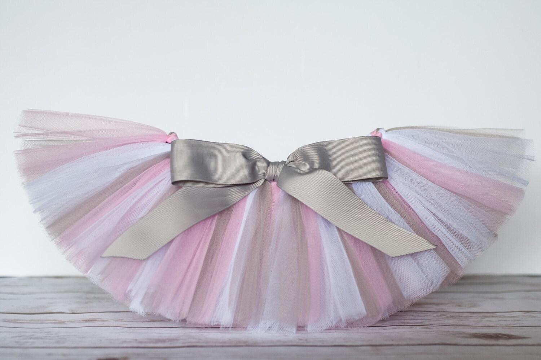 Pink Gray Tutu Zoe Grey Silver