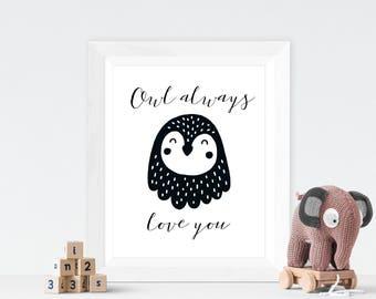 Black and White Nursery Animal Prints Baby Owl Nursery Decor Baby Owl Printable Baby Owl Decor Owl Nursery Art Owl Art Printable