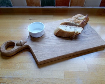 Cheese board / food board hand made in English Oak with Acorn, hand crafted English oak free UK postage