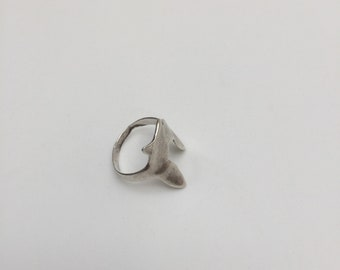 Vintage sterling silver abstract unusual ring