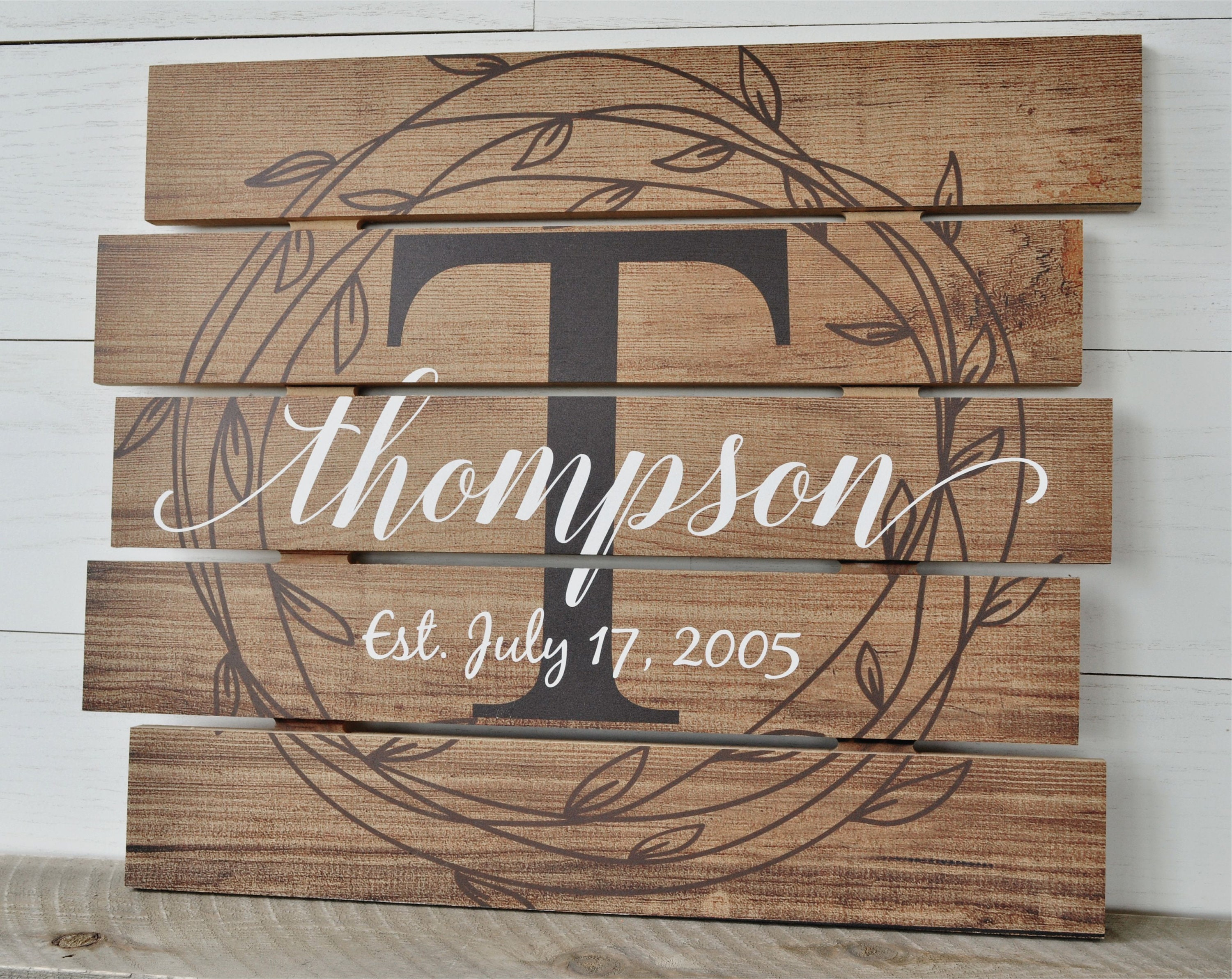 zoom Personalized Family Name Sign Rustic Pallet