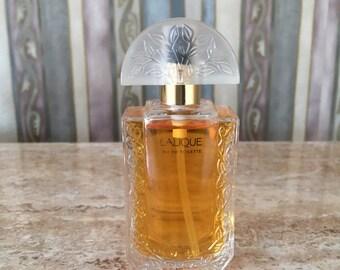 Vintage Lalique 1oz Eau De Toilette