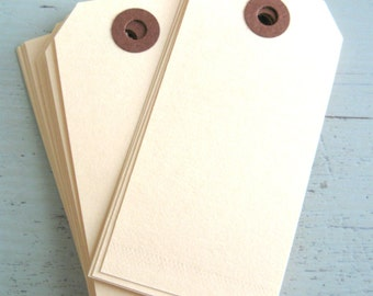 SALE ~ Medium Manila Parcel Tags 25 Count, Manila Shipping Tags, Blank Manila Tags