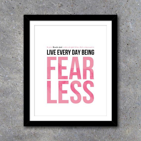 home office artwork. Fearless Home \u0026 Office Artwork In 3 Colors \u2013 Printable Art Instant Download Decor Motivational DIY Gallery Wall Ideas