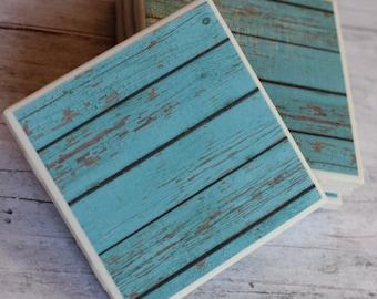 Rustic Coasters, Rustic coaster, Coaster, Coasters, Tile Coasters, Drink Coasters, Handmade Coasters, Coaster Set of 4, Distressed Wood