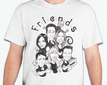 Serie de tv de amigos tv show camiseta Tshirt