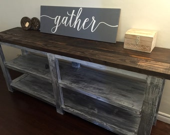 Gather Wood Sign No Frame but Hangs