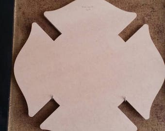 """22"""" W x 22"""" H unfinished Maltese cross"""